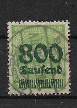 Deutsches Reich FREIMARKE 306 A gestempelt (INFLA)