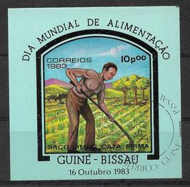GUINEA-BISSAU Block 256 gestempelt