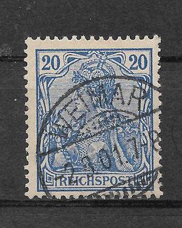 Deutsches Reich REICHSPOST 57 gestempelt (II)