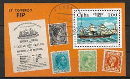 CUBA Block 82 gestempelt