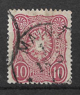 Deutsches Reich PFENNIGE 33a gestempelt (BPP WIEGAND) (VI)