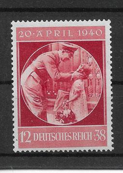 Deutsches Reich 51. GEBURTSTAG von ADOLF HITLER 744 postfrisch