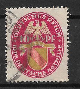 Deutsches Reich NOTHILFE LANDESWAPPEN 399 Y gestempelt (2)