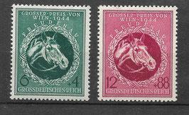 Deutsches Reich GALOPPRENNEN GROßER Preis von WIEN 900-901 postfrisch (2)
