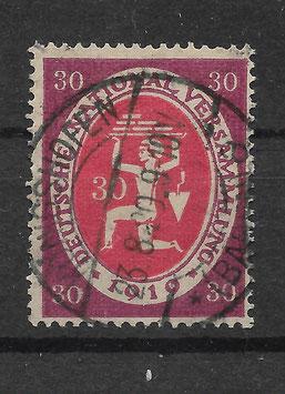 Deutschs Reich NATIONALVERSAMMLUNG 110c gestempelt (INFLA)