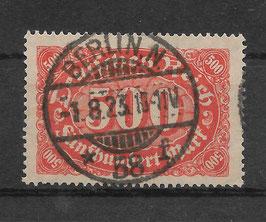 Deutsches Reich FREIMARKE ZIFFERN 223 gestempelt (INFLA)