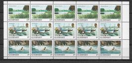Guernsey MH 289A+292A+290A postfrisch waagerechter Zusammendruck