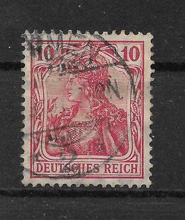 Deutsches Reich GERMANIA 86 Ia gestempelt (BPP JÄSCHKE)