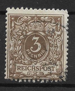 Deutsches Reich KRONE & ADLER 45b gestempelt (BPP WIEGAND) (4)