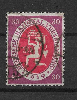 Deutschs Reich NATIONALVERSAMMLUNG 110c gestempelt (INFLA) (II)