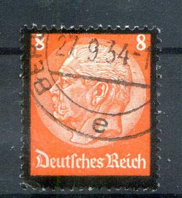 DR FREIMARKE TOD von PAUL von HINDENBURG 551 gestempelt