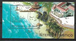 NICARAGUA Block 182 gestempelt