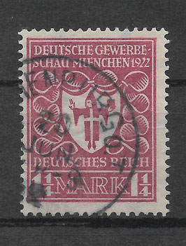 Deutsches Reich GEWERBESCHAU 199a gestempelt (INFLA) (2)