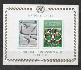 UNO Genf Block 2 postfrisch (2)