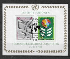 UNO Wien Block 1 gestempelt