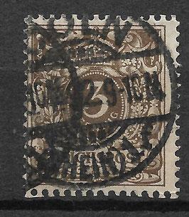 Deutsches Reich KRONE/ADLER 45b gestempelt (BPP WIEGAND) (III)