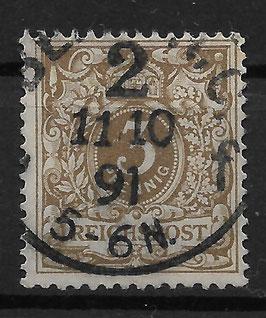 Deutsches Reich KRONE & ADLER 45a gestempelt (BPP WIEGAND) (10)