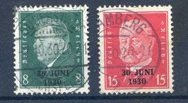 Deutsches Reich FREIMARKE 444-445 gestempelt