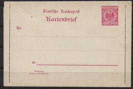 Deutsches Reich KARTENBRIEF K 6 ungebraucht