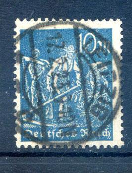 Deutsches Reich FREIMARKE ARBEITER 239 gestempelt