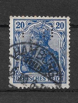 Deutsches Reich GERMANIA 87 Ia gestempelt (BPP JÄSCHKE) (V)