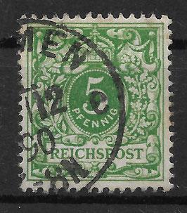 Deutsches Reich KRONE & ADLER 46b gestempelt (BPP ZENKER)