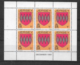 Jersey Kleinbogen 243 A postfrisch