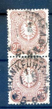 Deutsches Reich PFENNIGE 35aa gestempelt als PAAR (BPP JÄSCHKE) (4)