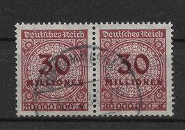Deutsches Reich FREIMARKE 320 AW gestempelt als Paar (INFLA)