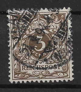 Deutsches Reich KRONE & ADLER 45b gestempelt (BPP WIEGAND) (5)
