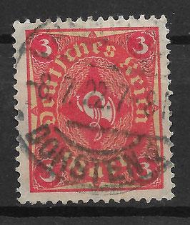 Deutsches Reich FREIMARKE 192 gestempelt