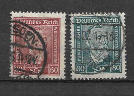 Deutsches Reich FREIMARKE 362-363 gestempelt (2)