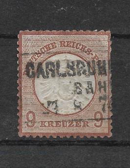 Deutsches Reich BRUSTSCHILD 27b gestempelt (BPP KRUG)