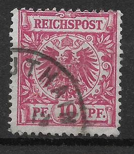 Deutsches Reich KRONE & ADLER 47a gestempelt (BPP ZENKER)