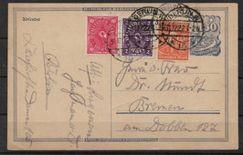 Deutsches Reich POSTKARTE 148 I gestempelt (BPP ZENKER)