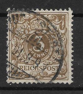 Deutsches Reich KRONE & ADLER 45a gestempelt (BPP WIEGAND) (5)