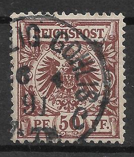 Deutsches Reich KRONE & ADLER 50d gestempelt (BPP ZENKER) (2)