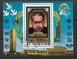 Nordkorea Block 88 gestempelt