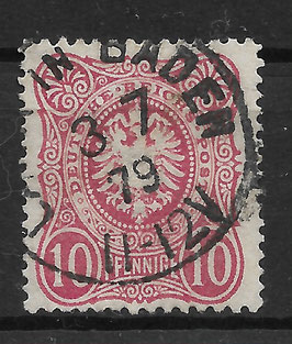 Deutsches Reich PFENNIGE 33a gestempelt (BPP WIEGAND) (7)