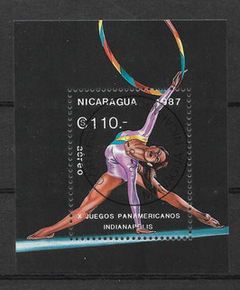 NICARAGUA Block 174 gestempelt