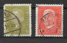Deutsches Reich FREIMARKE 465-466 gestempelt (2)