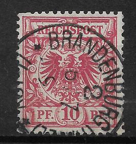Deutsches Reich KRONE & ADLER 47b mit Plattenfehler V gestempelt (BPP WIEGAND)
