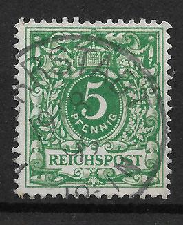 Deutsches Reich KRONE & ADLER 46c gestempelt (BPP WIEGAND) (7)