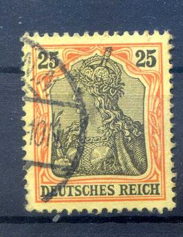 Deutsches Reich GERMANIA o. WZ 73 gestempelt