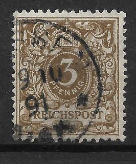 Deutsches Reich KRONE & ADLER 45a gestempelt (BPP WIEGAND) (7)