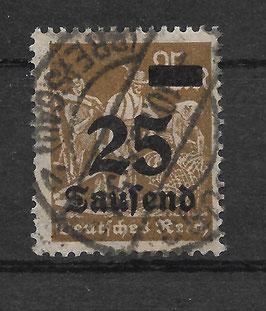 Deutsches Reich FREIMARKE 283 gestempelt (INFLA)