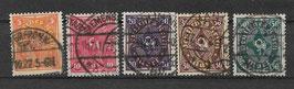 Deutsches Reich POSTHORN 205-209 gestempelt (2)