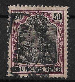 Deutsches Reich GERMANIA o. WZ 76 gestempelt