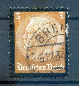 DR FREIMARKE TOD von PAUL von HINDENBURG 548 gestempelt