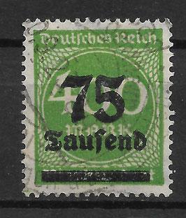 Deutsches Reich FREIMARKE 287a gestempelt (INFLA)